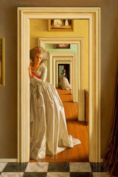 4 - Les Amis, les amants - acrylic on panel - 36 x 24 - 2014 full